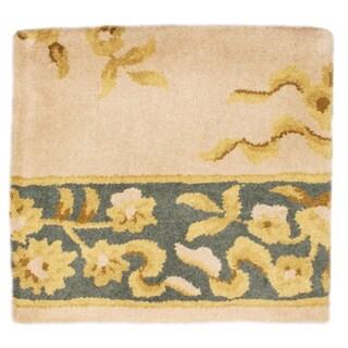 Hand-tufted Ablon Ivory Wool Rug (1.6' x 1.6')