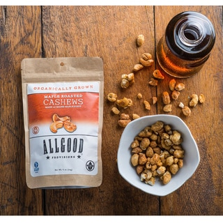 Allgood Provisions Organic Maple Roasted Cashews (Pack of 3)