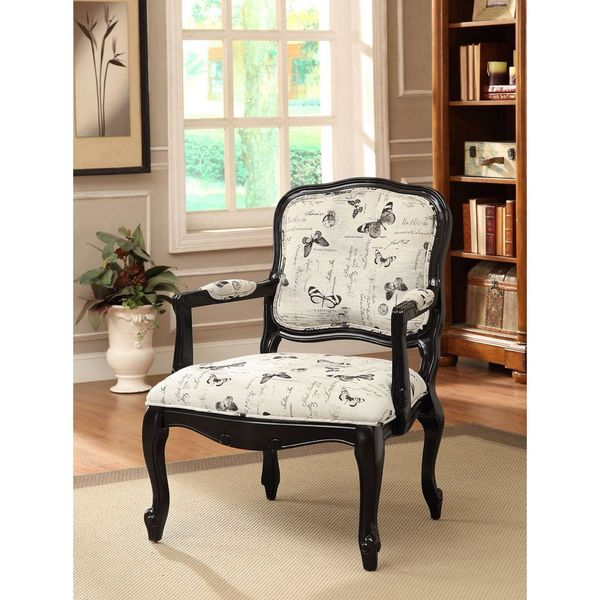 Treasure Trove Accents Inman Black Accent Chair