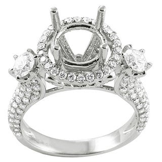 18k White Gold 1 7/8ct TDW Diamond Semi-mount Engagement Ring (H-I, I1-I2)