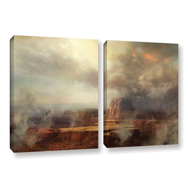 ArtWall Philip Straub 'Before The Rain' 2 Piece Gallery-wrapped Canvas Set