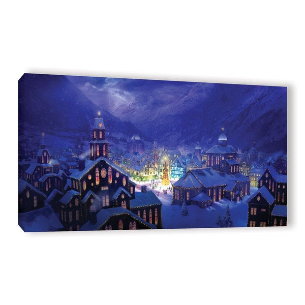 ArtWall Philip Straub 'Christmas Town' Gallery-wrapped Canvas