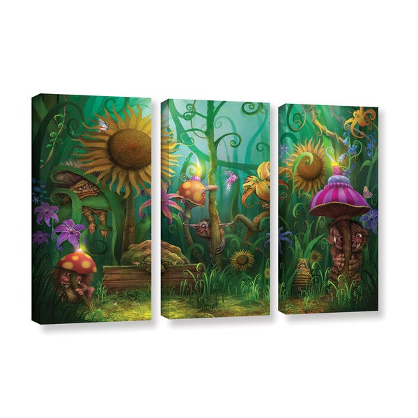 ArtWall Philip Straub 'Meet The Imaginaries' 3 Piece Gallery-wrapped Canvas Set
