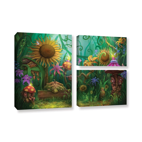 ArtWall Philip Straub 'Meet The Imaginaries' 3 Piece Gallery-wrapped Canvas Flag Set