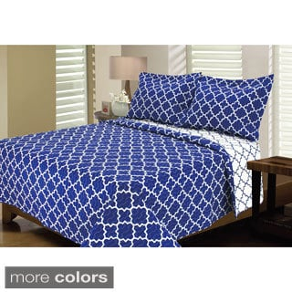 Eileen West Lattice Bright 3-piece Quilt Set