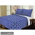 Eileen West Lattice Bright 3-piece Quilt Set