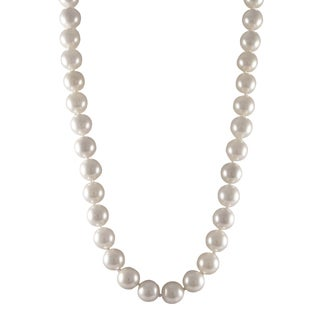Sterling Silver Matte White Shell Pearl Strand Necklace