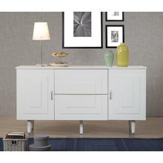 Aria Butter White 2-Door 2-Drawer Buffet