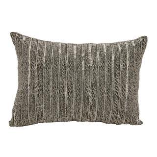 "Michael Amini by Nourison Pewter Pillow (10"" x 14"")"
