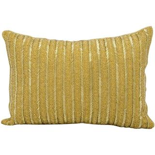 "Michael Amini by Nourison Gold Pillow (10"" x 14"")"