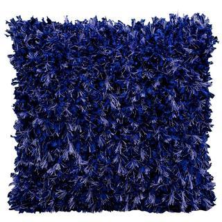 Michael Amini Shimmer Shag Blue Throw Pillow (20-inch x 20-inch) by Nourison
