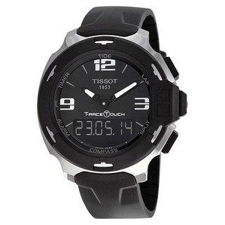 Tissot Men's T0814201705701 'T-Race' Black Rubber Watch