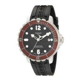 Tissot Men's T0664071705703 'T-Sport Seastar 1000' Automatic Black Rubber Watch