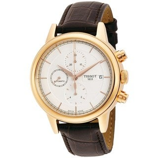 Tissot Men's T0854273601100 'Carson' Automatic Chronograph Brown Leather Watch