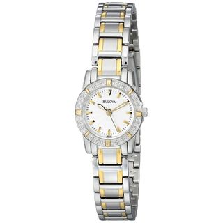 Bulova Women's 98R155 'Highbridge ' Diamond Two-Tone Stainless Steel Watch