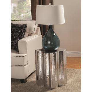 Cassandra Quatrefoil Silver Accent Table