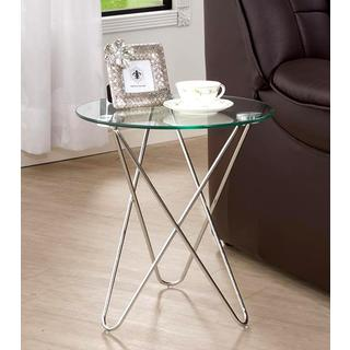 Living Room Stylish Accent Table with Glass Top