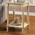 Living Room Antique White Accent Table