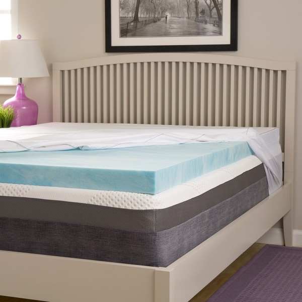 Slumber Solutions Choose Your Comfort 4-inch Gel Memory Foam Mattress Topper with Egyptian Cotton Cover