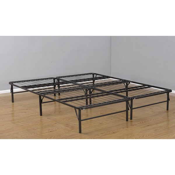 K & B B3876 6/6 Bi-Fold Metal Bed Base