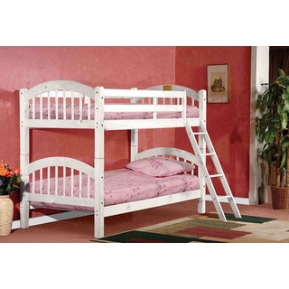 K & B B125W Arched Twin/Twin Bunk Bed