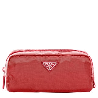 Prada Vela Nylon Shiny Red Cosmetic Case