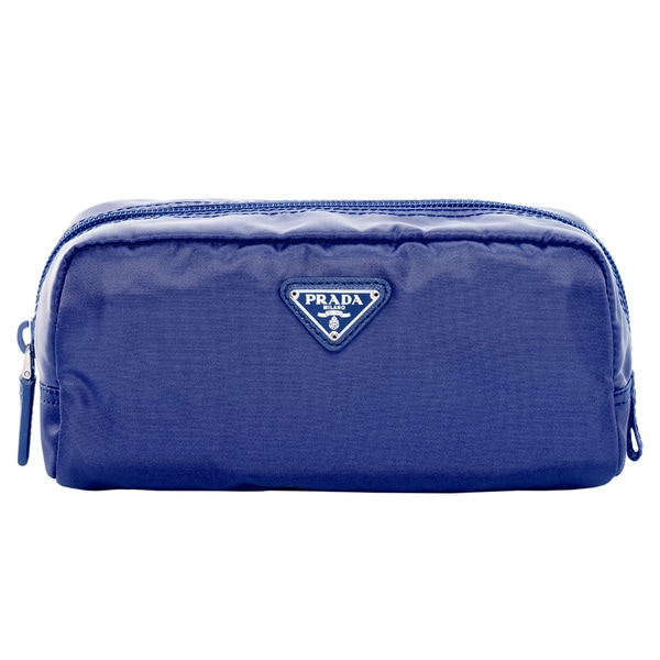 Prada Vela Nylon Blue Cosmetic Case