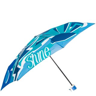 Burberry Rain or Shine Print Folding Umbrella with Charm
