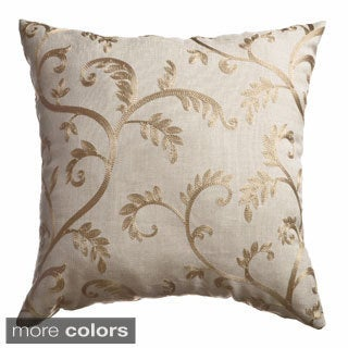 Robbie Embroidered Feather Down Pillow (Set of 2)