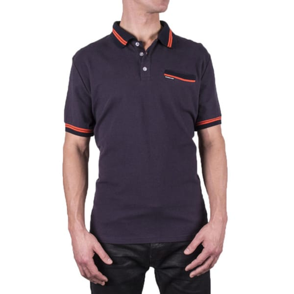Members Only Men's Striped Trim Polo Shirt