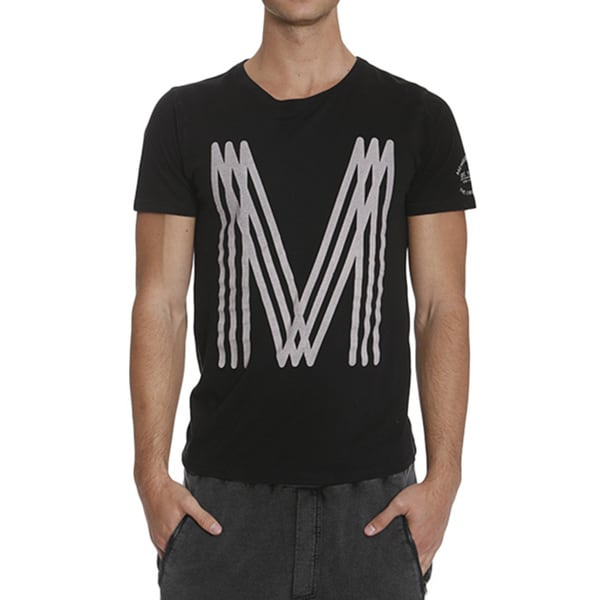 Members Only Men's Striped Logo Tee
