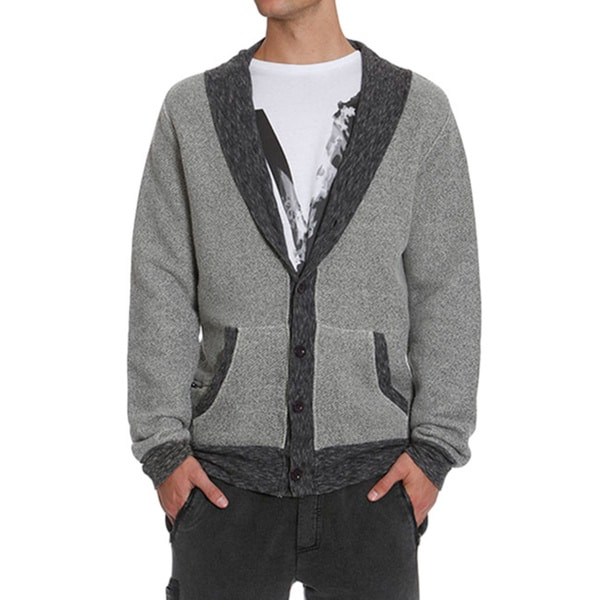 Members Only Men's French Terry Cardigan