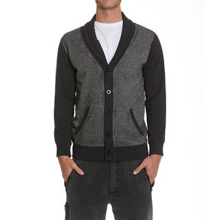 Members Only Men's French Terry Washed Cardigan