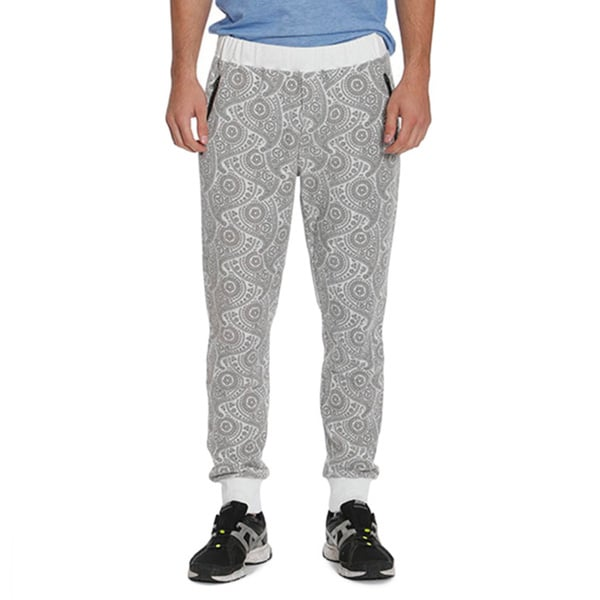 Members Only Men's French Terry Paisley Joggers