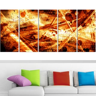 Design Art 'Signs of Life' 60 x 28-inch 5-panel Abstract Canvas Art Print