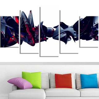 Design Art 'Nice to Meet You' 60 x 32-inch 5-panel Abstract Canvas Art Print