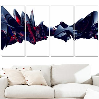 Design Art 'Nice to Meet You' 48 x 28-inch 4-panel Abstract Canvas Art Print