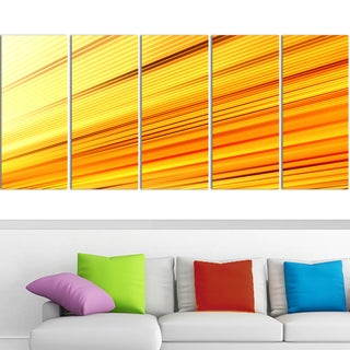 Design Art 'Speed of Light' 60 x 28-inch 5-panel Abstract Canvas Art Print