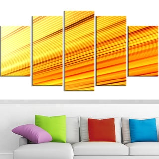 Design Art 'Speed of Light' 60 x 32-inch 5-panel Abstract Canvas Art Print