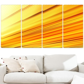 Design Art 'Speed of Light' 48 x 28-inch 4-panel Abstract Canvas Art Print