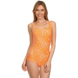 Dippin' Daisy's Orange Dandelion Boy Cut Missy One-piece