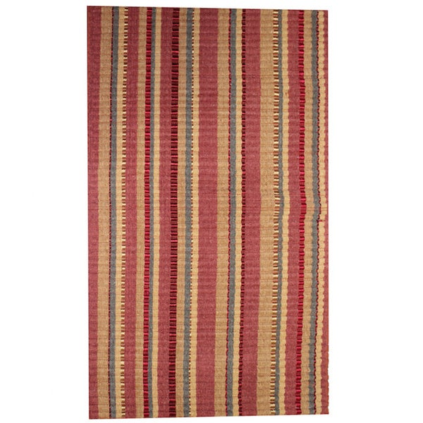 "Wine Silk Ribbed Rug (21"" x 34"")"