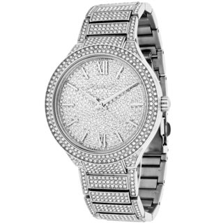 Michael Kors Women's MK3359 Kerry Round Crystal Pave Stainless Steel Bracelet Watch