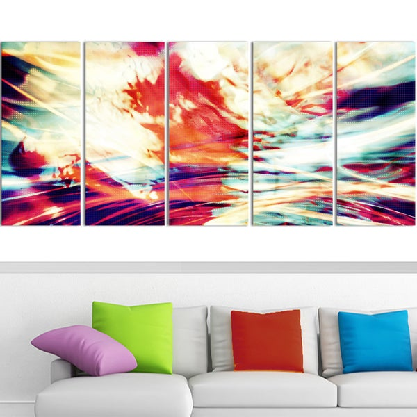 Design Art 'Winds of the World' 60 x 28-inch 5-panel Abstract Canvas Art Print