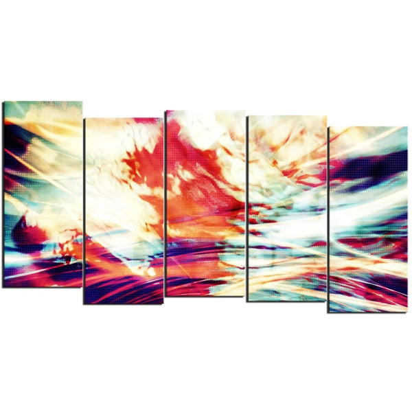Design Art 'Winds of the World' 60 x 32-inch 5-panel Abstract Canvas Art Print