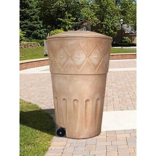 Decorative Wheeled Outdoor Trash Bin
