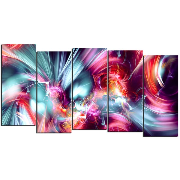 Design Art 'Take Me Over' 60 x 32-inch 5-panel Canvas Art Print
