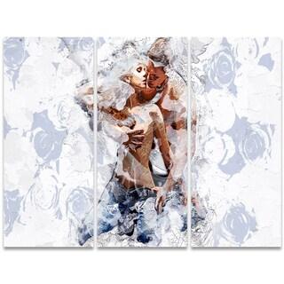 Design Art 'Fashion Passion' 36 x 28-inch 3-panel Sensual Canvas Art Print