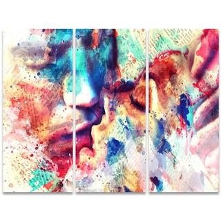 Design Art 'Mine' 36 x 28-inch 3-panel Sensual Canvas Art Print