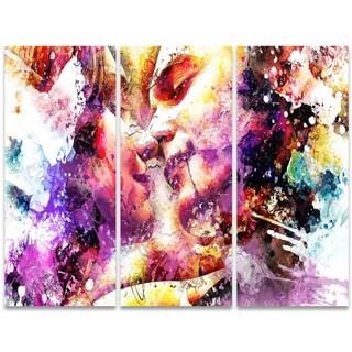 Design Art 'First Of Many' 36 x 28-inch 3-panel Sensual Canvas Art Print